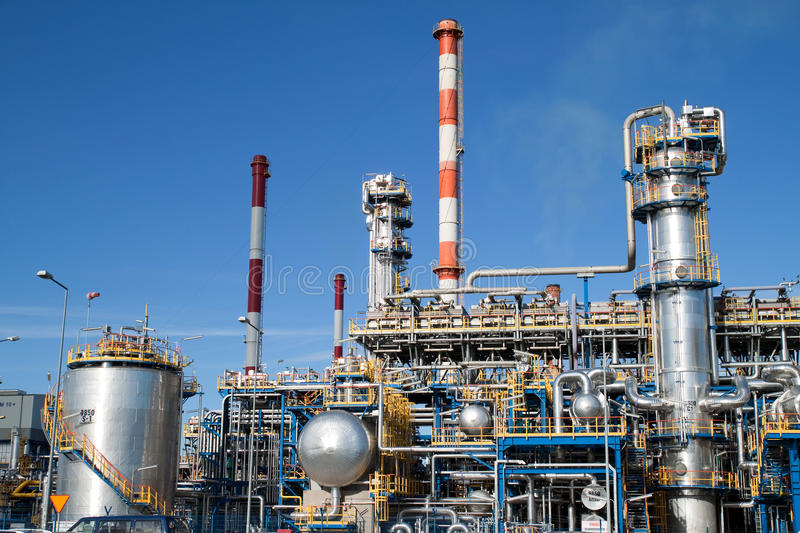 Oil refinery. Closeup - industrial shot royalty free stock images