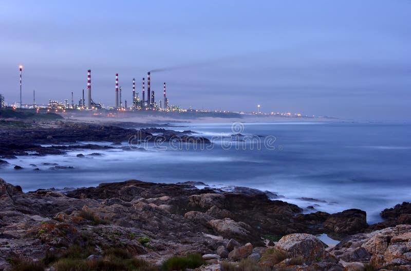 Oil refinery 2 royalty free stock photos