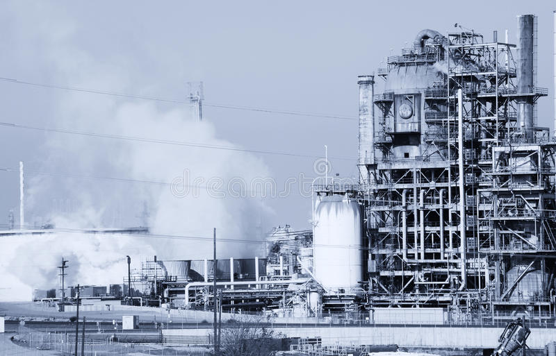 Oil refinery. In Long beach California royalty free stock image