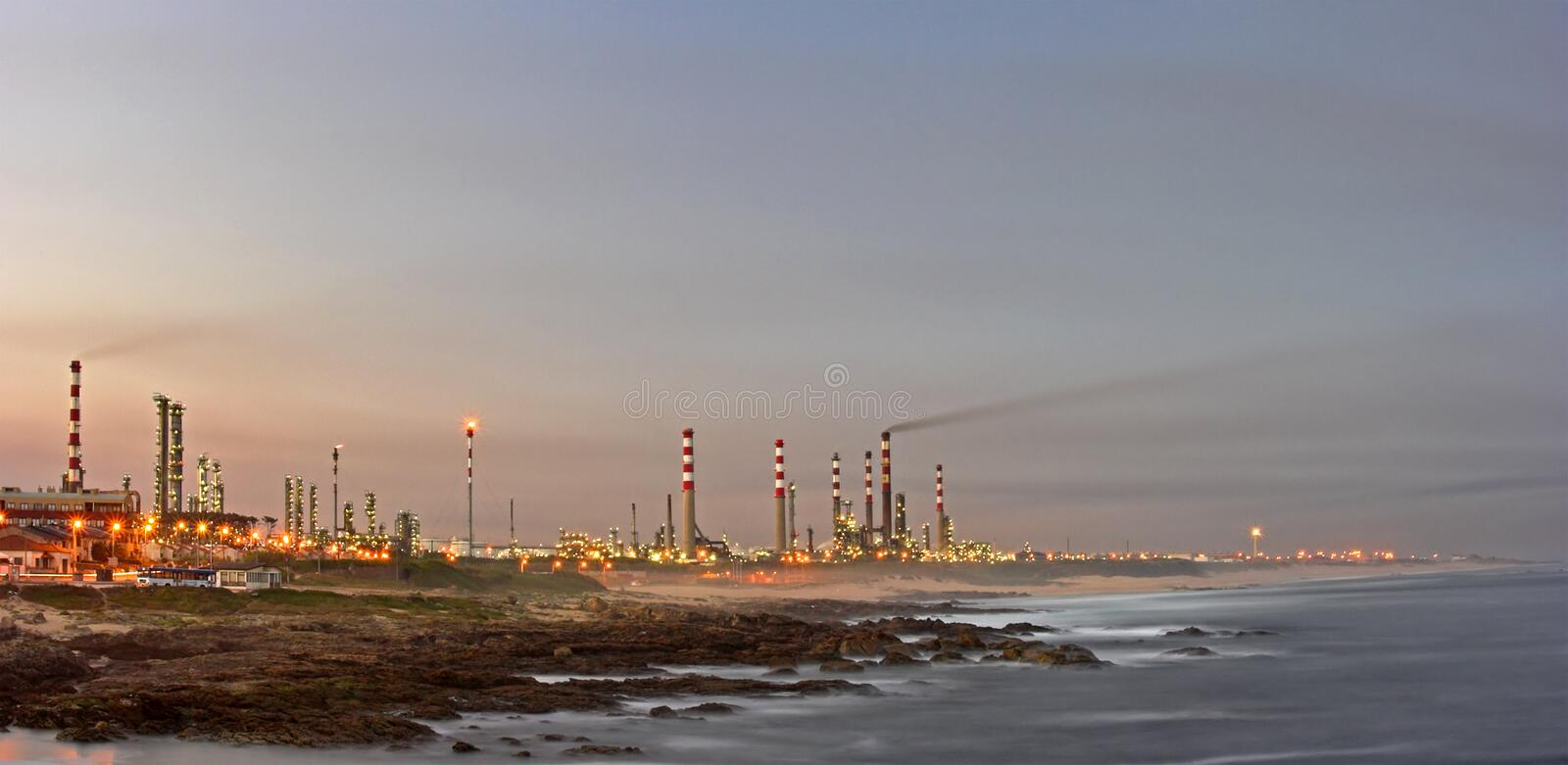 Oil refinery 3 royalty free stock photo