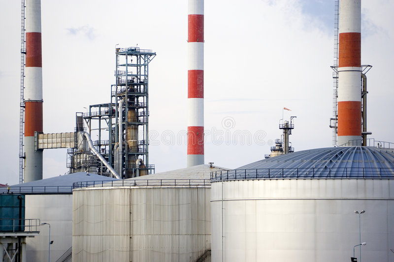 Oil Refinery. Image of oil refinery equipment in Malaysia stock image