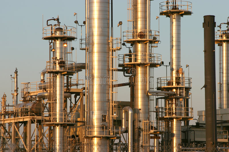 Oil Refinery #4 stock photography