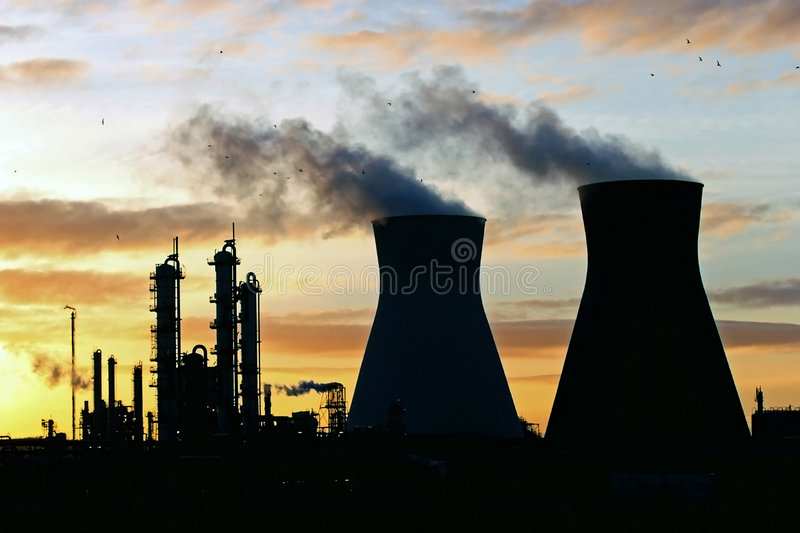 Oil refinery. On the Firth of Forth Scotland stock photography