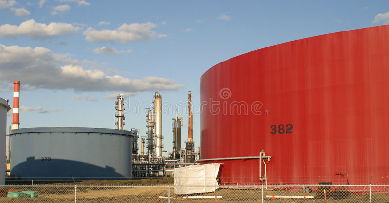 Download Oil refinery stock photo. Image of horizontal, clouds - 6673934