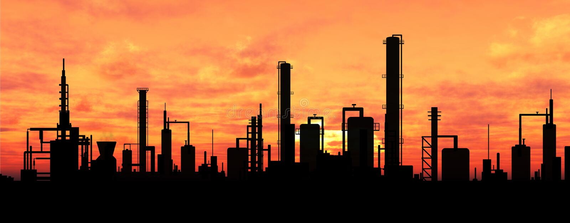Oil refinery vector illustration