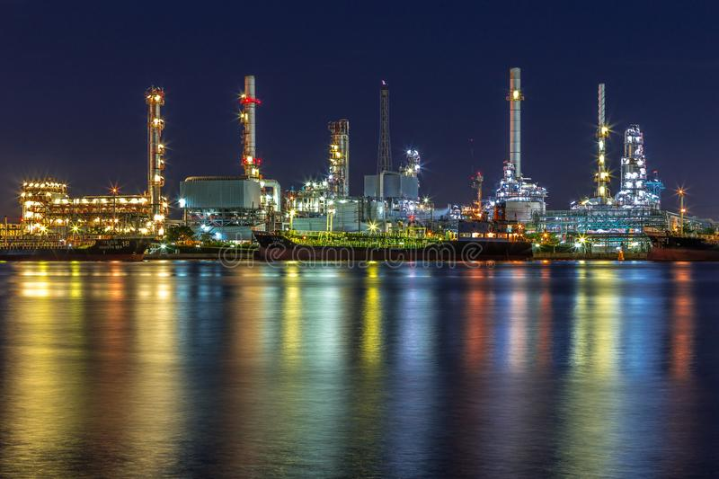 Oil refinery in Bangkok royalty free stock photography