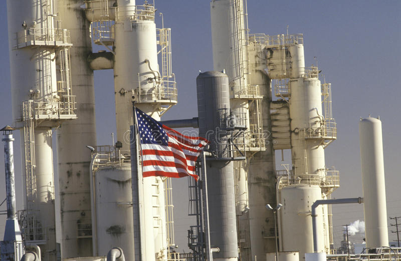 Oil Refinery, CA royalty free stock images