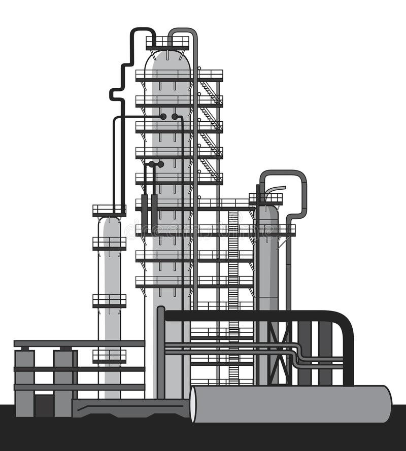 Oil refinery royalty free illustration