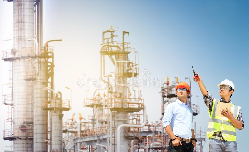 Oil refinery. royalty free stock images