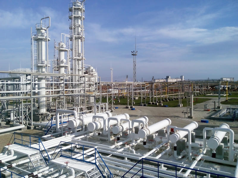 The oil refinery stock images