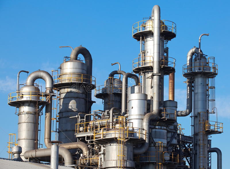 Download Oil Refinery factory stock image. Image of construction - 35539765