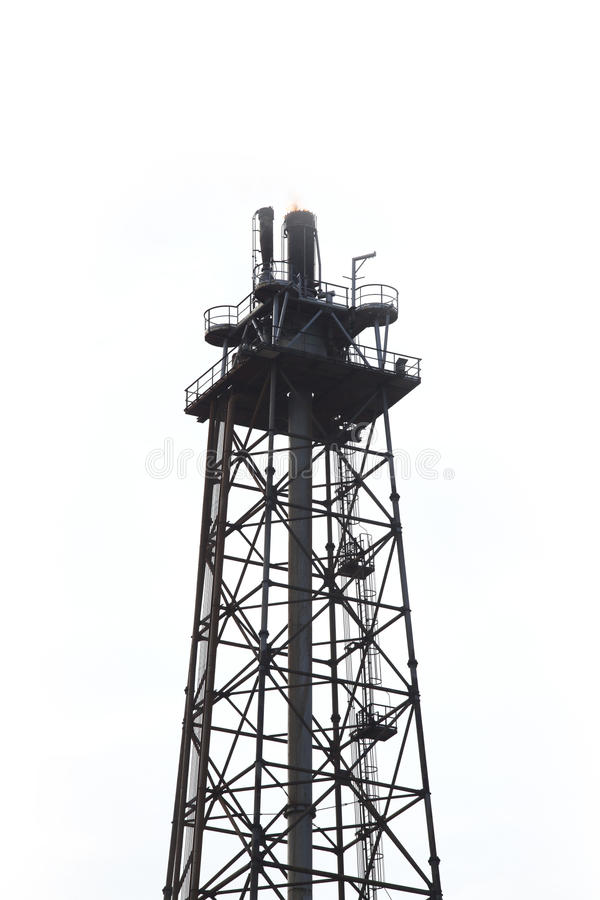 Oil refinery factory tower royalty free stock photos
