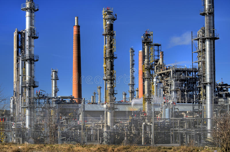 Oil Refinery in Germany. View of a Oil Refinery in Germany royalty free stock photo