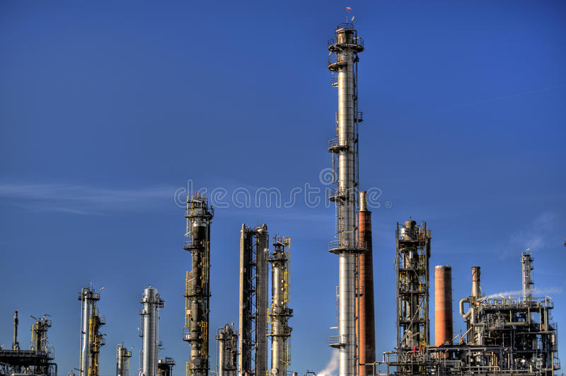 Oil Refinery in Germany. View of a Oil Refinery in Germany stock photo