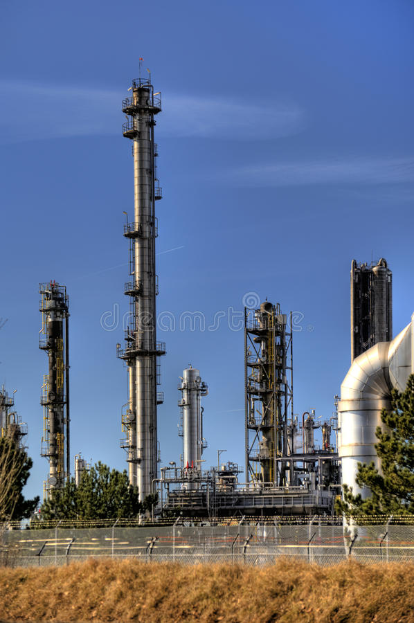 Oil Refinery in Germany. View of a Oil Refinery in Germany stock images