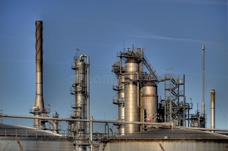 Oil Refinery in Germany. View of a Oil Refinery in Germany stock photography
