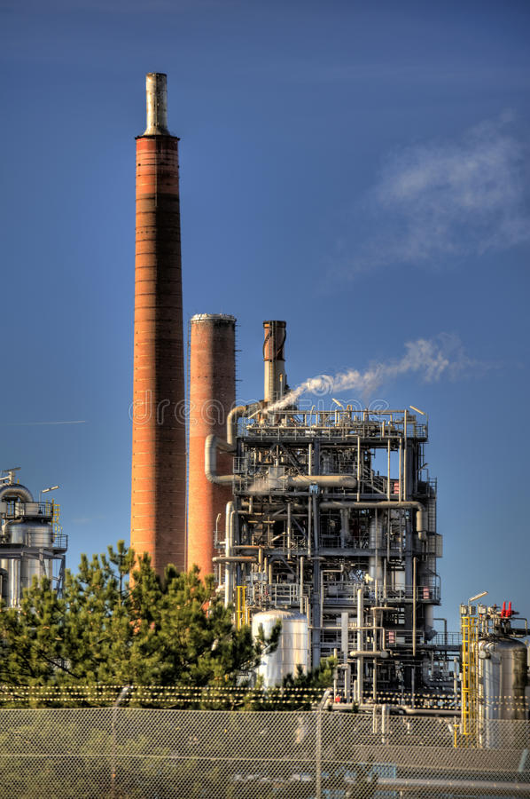 Oil Refinery in Germany. View of a Oil Refinery in Germany stock photos