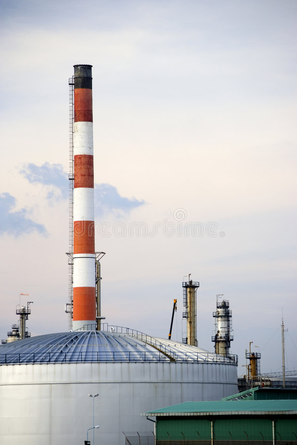 Oil refinery in Malaysia stock photos