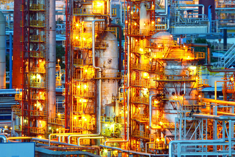 Download Oil refinery stock photo. Image of chemical, structure - 33030058