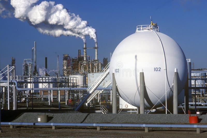 Oil Refinery, NJ stock photography