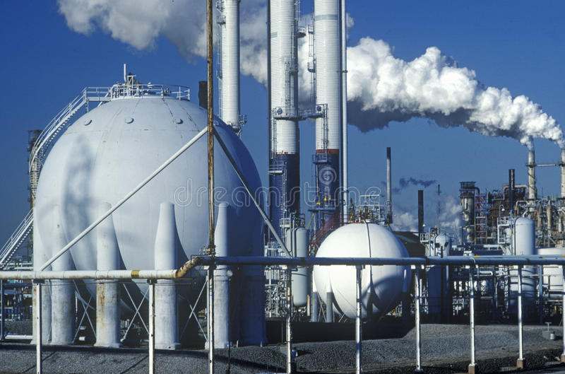 Oil Refinery, NJ royalty free stock images