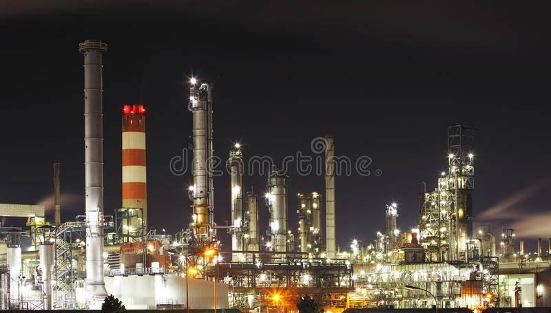 Oil refinery - petrochemical industry royalty free stock images