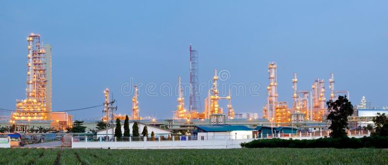 Oil Refinery Plant Panorama royalty free stock photos