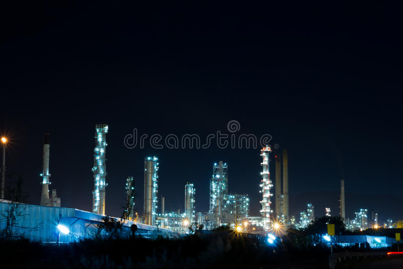 Download Oil Refinery Plant With Power Generator Stock Image - Image of dark, factory: 27467029