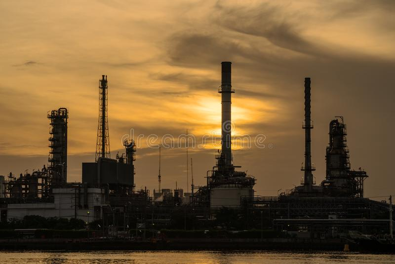 Oil Refinery Power Plant In Thailand Stock Image - Image of