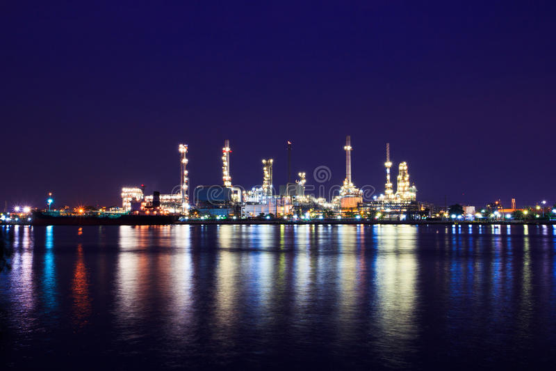 Download Oil refinery stock photo. Image of coast, light, petrol - 34942162