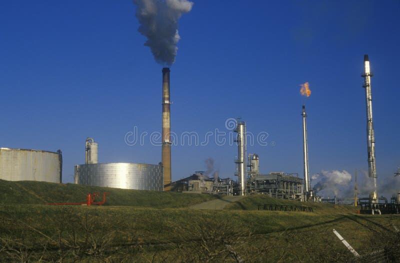 Oil Refinery Smokestacks, DE stock image