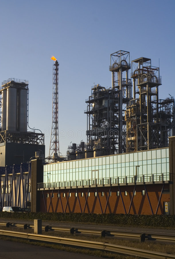 Download Oil refinery before sunset stock photo. Image of chimney - 2631006