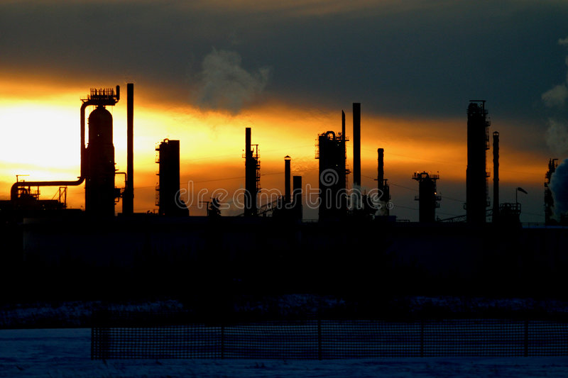Download Oil refinery at sunset stock image. Image of tanks, petrol - 5286795