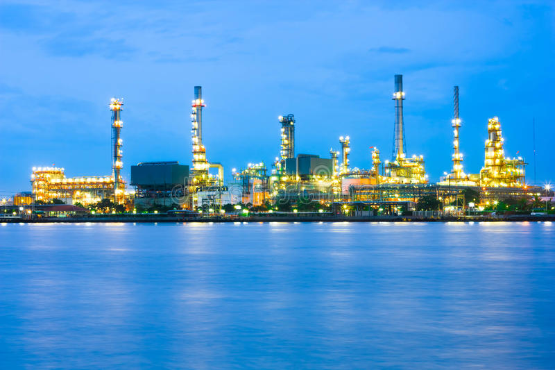 Download Oil refinery at twilight stock photo. Image of fuel, production - 33579014