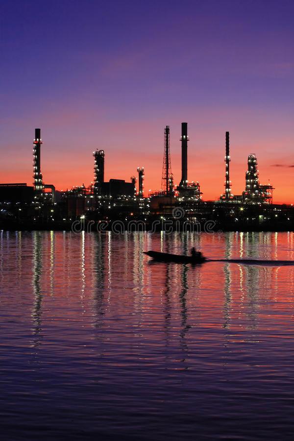 Download Oil Refinery At Twilight Thailand Stock Photo - Image: 14864456