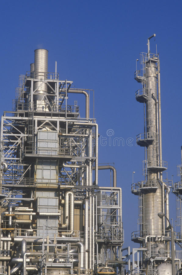 Oil Refinery at Wilmington, CA royalty free stock photo