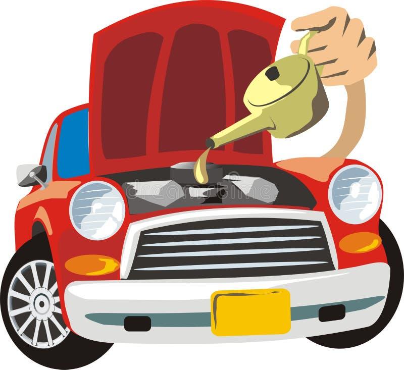 Car repair stock vector. Illustration of repair, hood ...