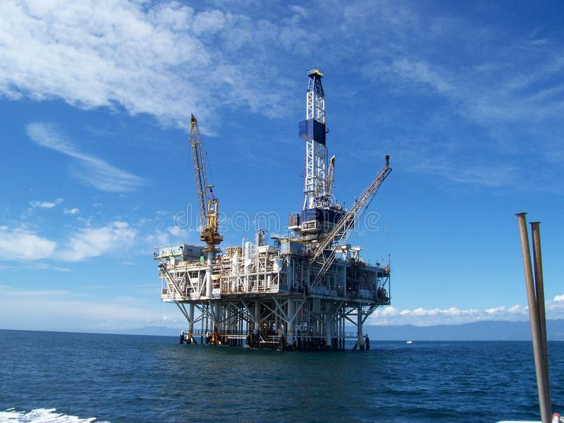 Oil Rig stock image