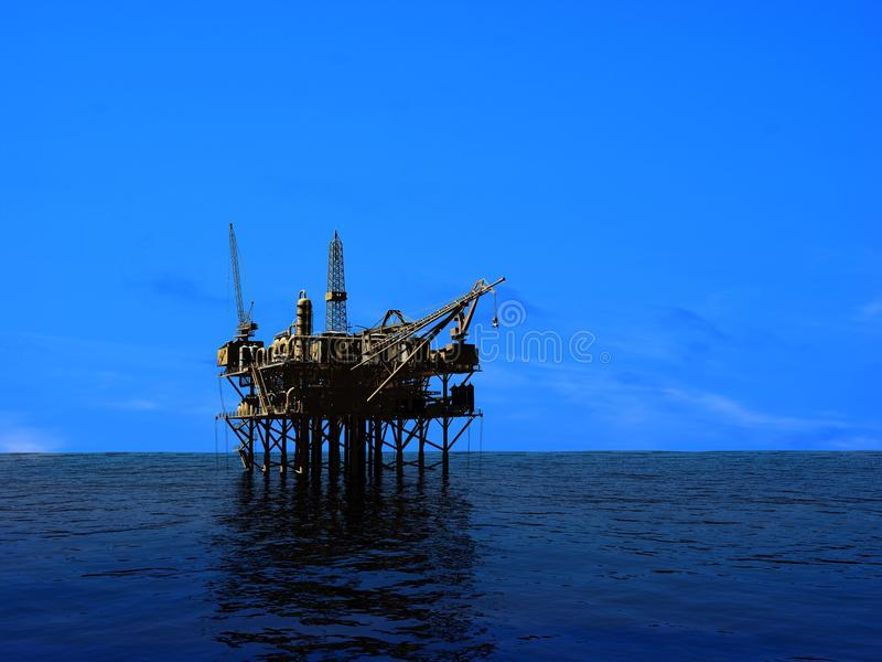 Download Oil Rig stock illustration. Image of exploration, cape - 19570697