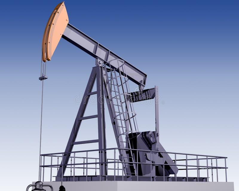 Download Oil Rig stock illustration. Image of machine, pump, crane - 5660851