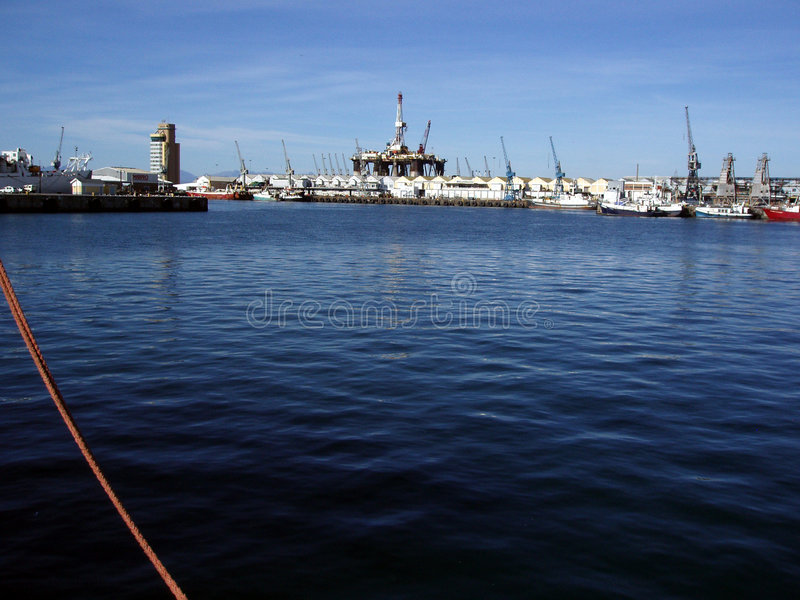 Oil Rig in Cape Town Harbour stock photos