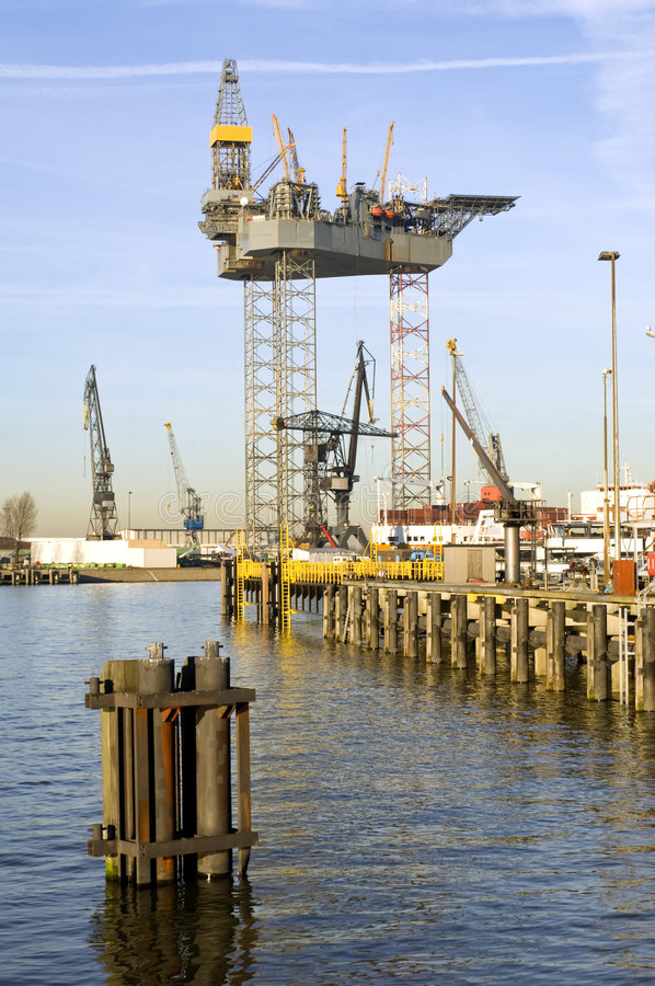 Oil rig construction royalty free stock photography