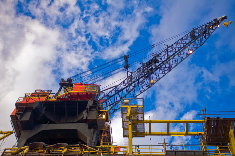 Oil rig crane royalty free stock image