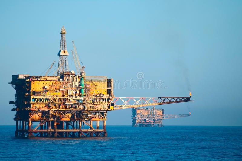 Oil rig field rig royalty free stock image