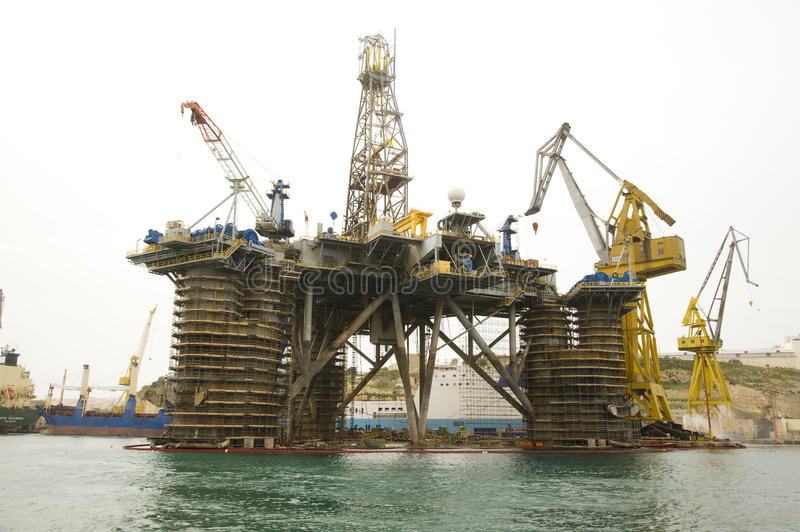 Download Oil Rig in harbour Malta editorial stock photo. Image of port - 30101208