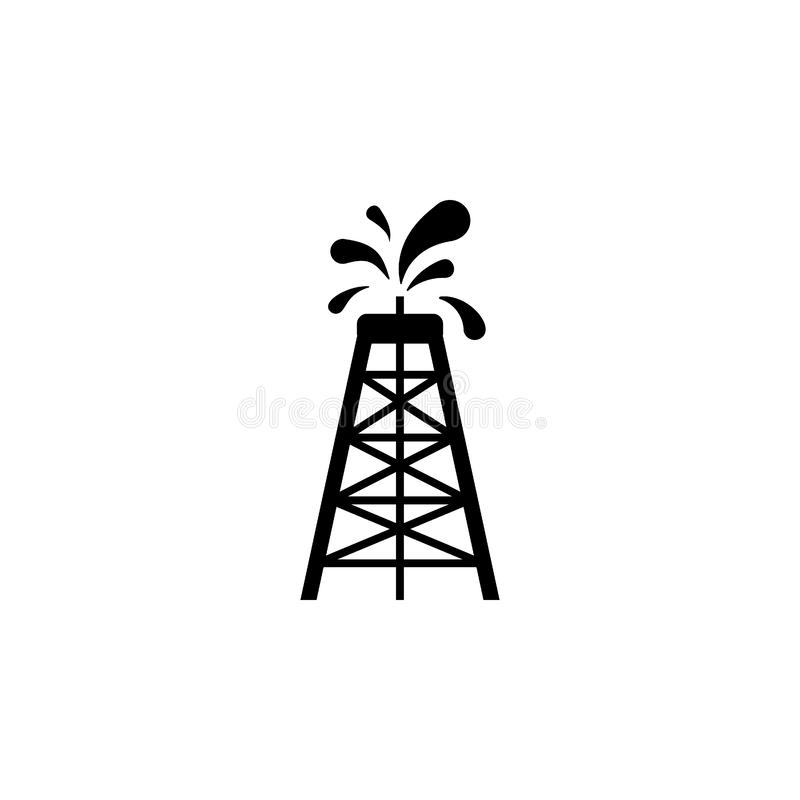 Oil rig icon. Simple glyph  of energy for UI and UX, website or mobile application. On white background royalty free illustration