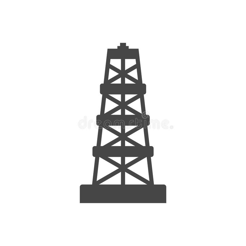 Oil rig icon. Vector icon vector illustration