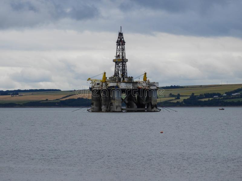 Oil Rig in Invergordon, Scotland. Oil Rig at Cromarty Firth in Invergordon in the Highlands, Scotland royalty free stock images