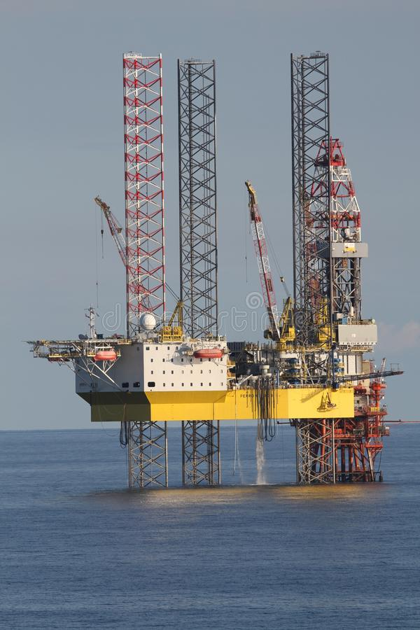 Oil Rig, Jackup Rig, Semi Submersible, Water stock photography