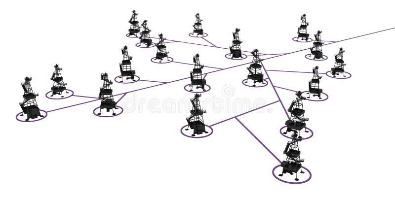 Download Oil Rig Link Branch stock illustration. Image of mechanism - 14988059
